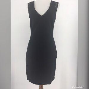 Zara Dress Black Mini Bodycon Stretch Sheer Lace